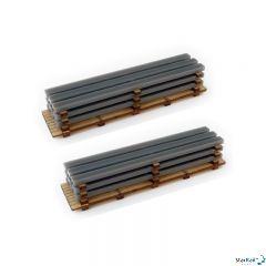 2-teiliges Set Bausatz Stahlladungen