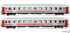 2-teiliges Set Trenitalia Reisezugwagen UIC-Z IntercitySun VI
