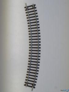 Gebogenes Gleis R3 30°
