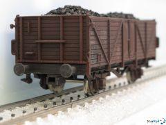 Offener Güterwagen DB gealtert mit Ladung Kohle