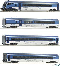 4-teiliges Set RailJet CD mit Innenbeleuchtung Märklin-System