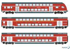 3-teiliges Set DB AG Doppelstockwagen Märklin-System