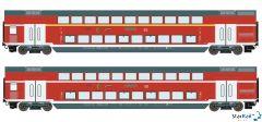 2-teiliges Set DB AG Doppelstockwagen Märklin-System