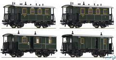 4-teiliges Set: Lokalbahnzug, K.Bay.Sts.B.