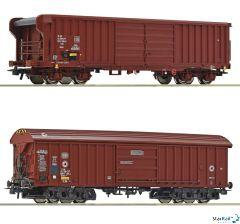 2-teiliges Set Güterwagen SBB Taems / DB Taehms