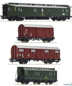 4-teiliges Set DB Postzug