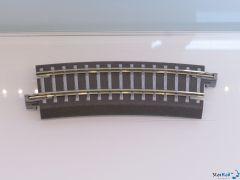 Bettungsgleis grau Gebogenes Gleis R 310 mm 15°