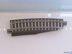 Bettungsgleis grau Gebogenes Gleis R 310 mm 15° Pass-Stück rechts