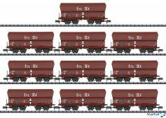10-teiliges Set DB Selbstentladewagen Erz IIId