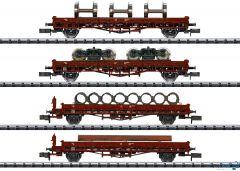 4-teiliges Set Niederbordwagen Kkklms 440
