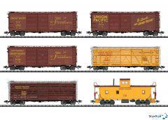 6-teiliges Union Pacific US Güterwagen-Set