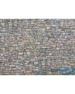 """3D Kartonplatte """"Bruchsteinmauer"""" bunt"""