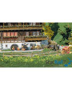 4 Garten- und Feldzäune, 2360 mm