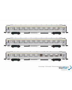 """Set mit 3 DEV Inox Wagen """"Train Rapide"""""""