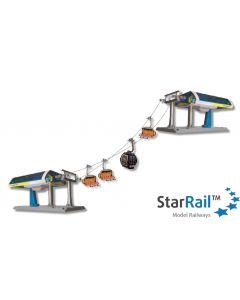 """Uni-G Profiset Elektrische Umlaufseilbahn blau/gelb """"Gipfelbahn"""" 1:32"""