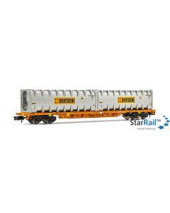 Vierachsiger Containerwagen WASCOSA,