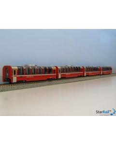 10-1319 Rhätische Bahn Bernina Express 4er Set Panoramawagen