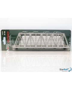 20-432 Kastenbrücke grau mit Gleis
