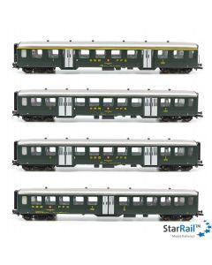 Set 1 SBB Leichtstahlwagen mit 1x 1. Klasse und 3x 2. Klasse