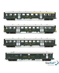 Set SBB Leichtstahlwagen mit 1x 1./2. Klasse, 2x 2. Klasse und 1x Gepäck- & Post