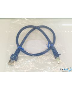 LDT 000130 Patchkabel 0.5m SF/UTP Cat.5e blau