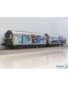 Set mit zwei Hbbills-uy mit Graffiti