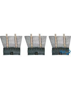 Ergänzungsset für die H0m / TT Drehscheibe mit 3 Anfahrgleisen