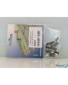 Bettungsgleis braun Schienenverbinder mit Anschluss 10 Stück
