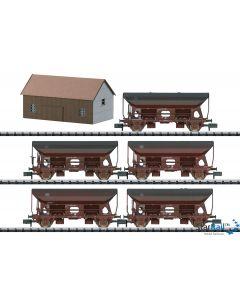 Güterwagen-Set Seitenentladewagen