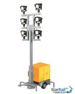 H0 Leuchtgiraffe auf Anhänger mit 6 LEDs weiss